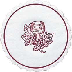 Glasuntersetzer Traube rund Ø 10 cm bordeaux