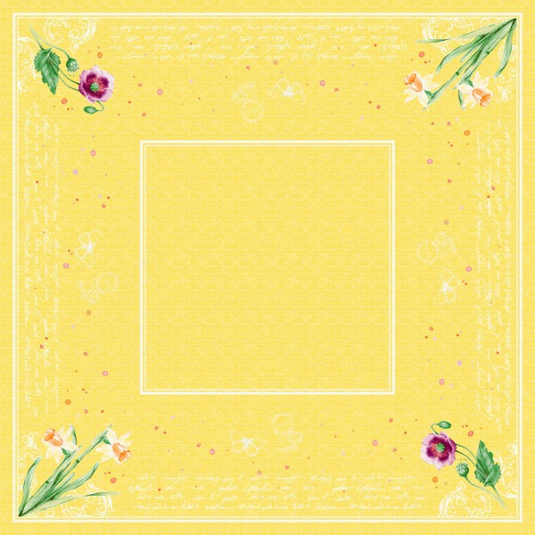DUNI Mitteldecke Dunicel 84x84 cm Spring Lilies