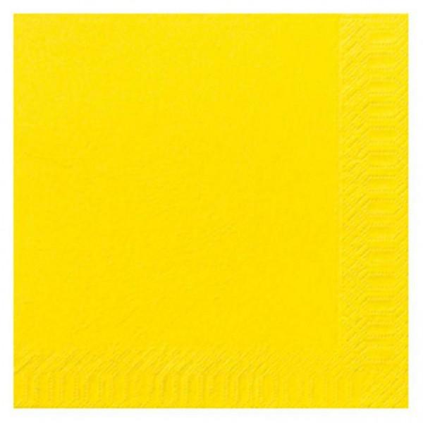 DUNI Zelltuch Serviette 40x40 cm 1/4F.gelb