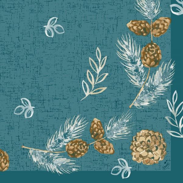 DUNI Klassik Serviette 40x40 cm 1/4F.Pine Cones