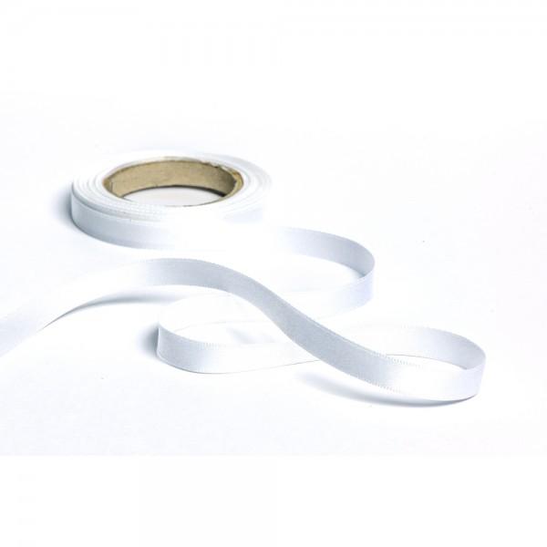 Geschenkband mit Druck 35mm breit 100 Meter weiß