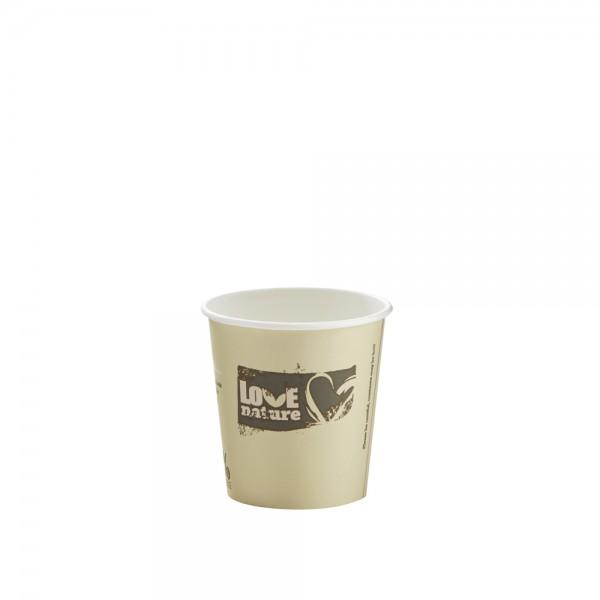 Heißgetränkebecher 100% kompostierbar 100 ml