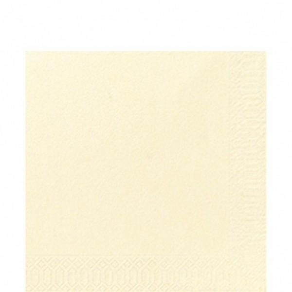 DUNI Zelltuch Serviette 33x33 cm 1/4F. creme