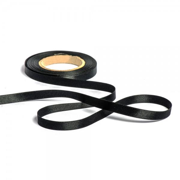 Geschenkband mit Druck 10mm breit 100 Meter schwarz