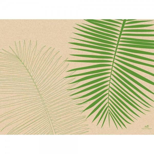 DUNI Tischset aus Graspapier 30 x 40 cm Leaf