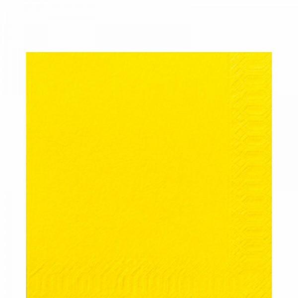 DUNI Zelltuch Serviette 33x33 cm 1/4F. gelb