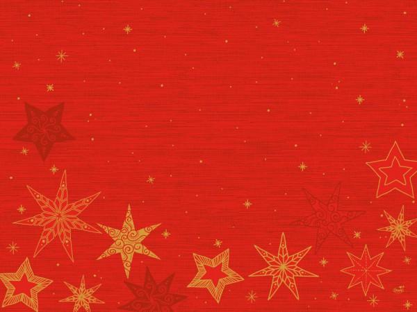 DUNI Tischset Papier 30 x 40 cm Star Stories Red