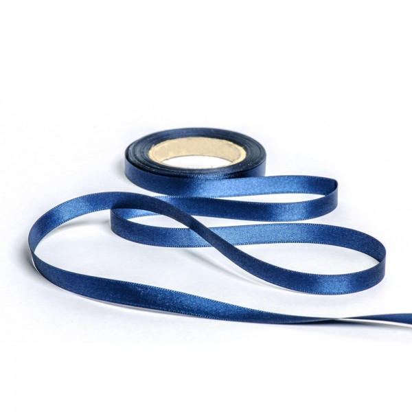 Geschenkband mit Druck 15mm breit 100 Meter dunkelblau