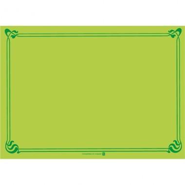 Papier Tischset uni 31x43cm kiwi