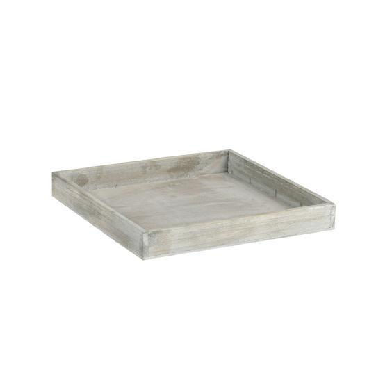 Holztablett 30x30x4 cm braun