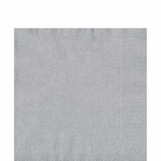 DUNI Zelltuch Serviette 33x33cm 1/4F. Silber