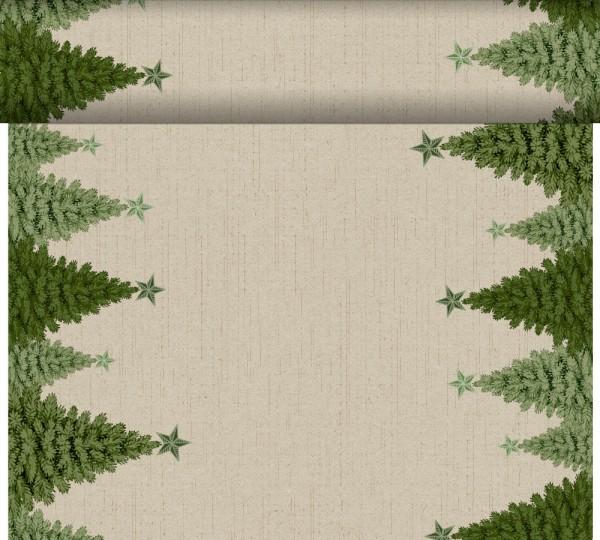 DUNI Tete-A-Tete Tischläufer Fir Forest