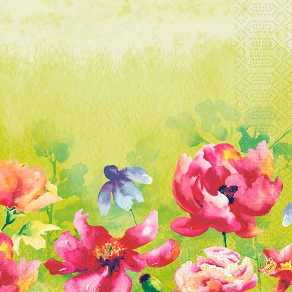 DUNI Zelltuch Serviette 40x40 cm 1/4F. Garden Joy