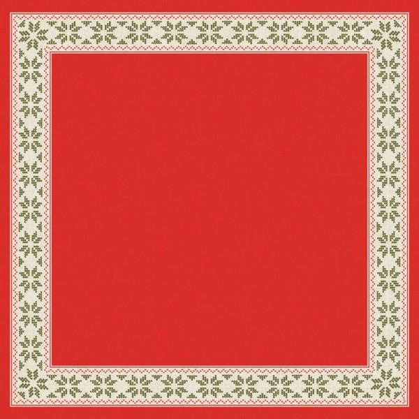DUNI Mitteldecke Dunisilk 84x84cm Urban Yule Red