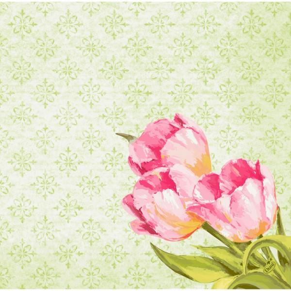 DUNI Dunisoft Serviette 40x40 cm 1/4F. Love Tulips