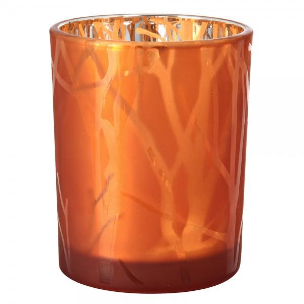 DUNI Kerzenglas Shimmer 100x80mm Rost