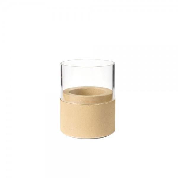 DUNI Kerzenhalter NEAT 75x68 mm sand m. Glas