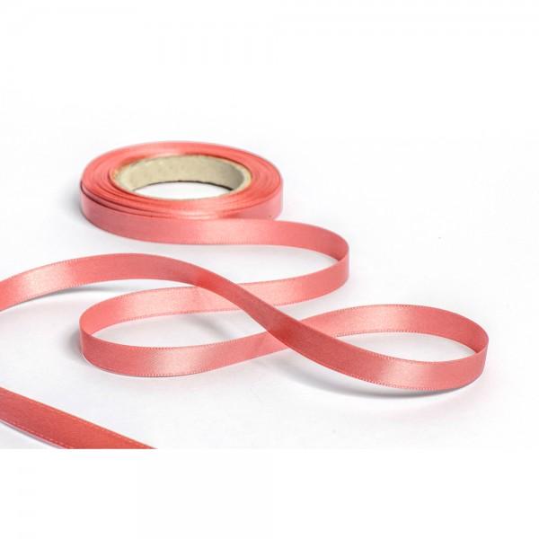 Geschenkband mit Druck 10mm breit 100 Meter altrosa