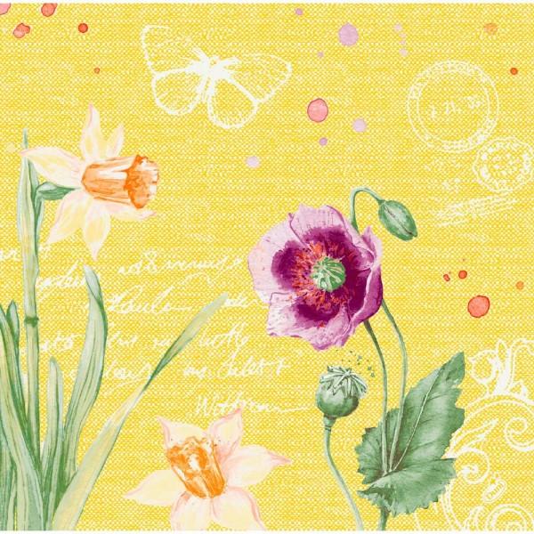 DUNI Dunisoft Serviette 40x40 cm 1/4F. Spring Lilies