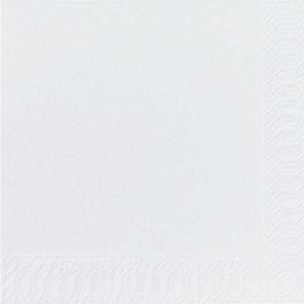 DUNI Zelltuch Serviette 40x40 cm 3lagig 1/4F. weiß