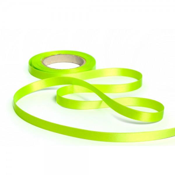 Geschenkband mit Druck 50mm breit 100 Meter limone