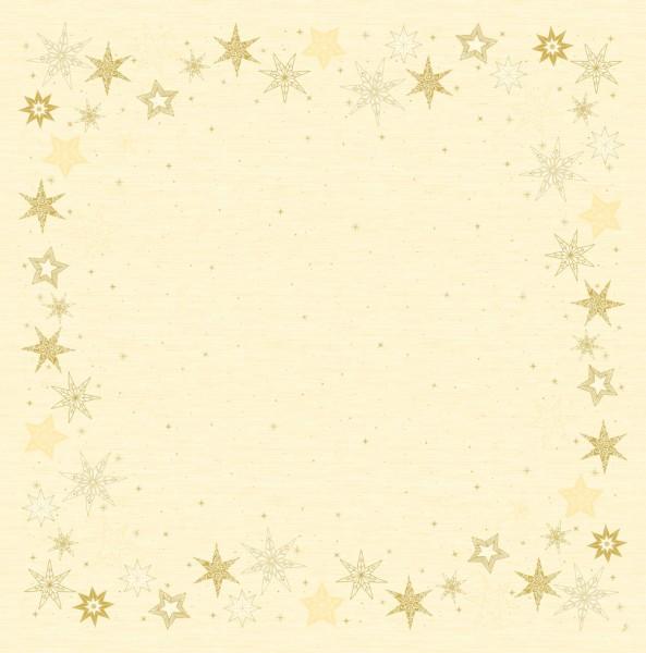 DUNI Mitteldecke 84x84cm Star Stories Creme