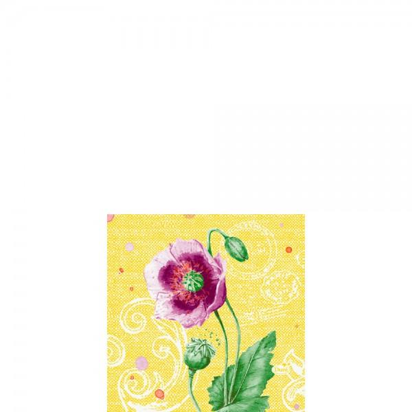 DUNI Zelltuch Serviette 24x24cm 1/4F.Spring Lilies