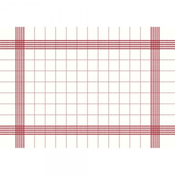 DUNI Towel Napkin 38x54 cm 3-lagig weiß/rot