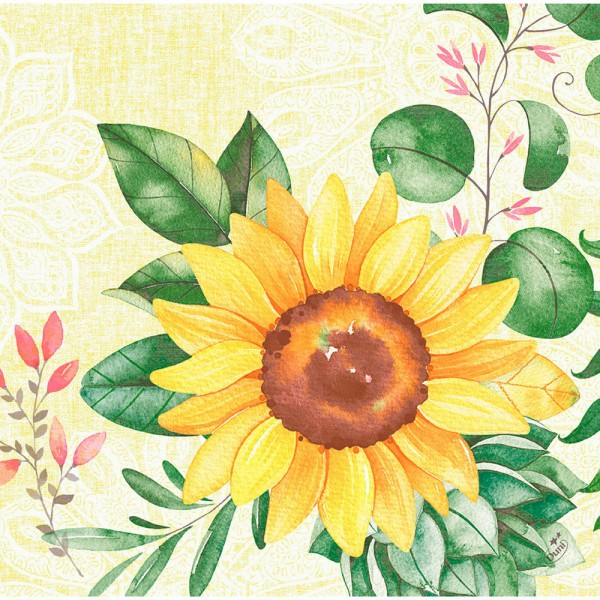 DUNI Dunisoft Serviette 40x40 cm 1/4F. Sunflower