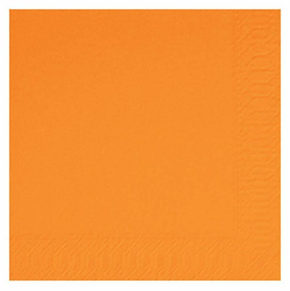 DUNI Cocktailserviette 24x24 cm 3-lagig orange