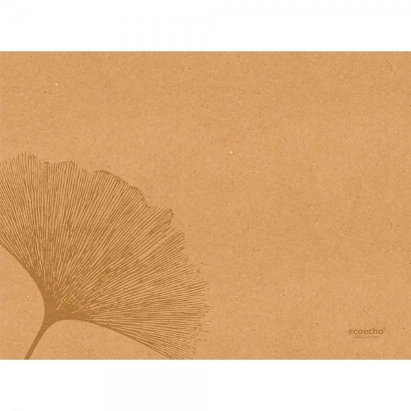 DUNI Tischset aus Papier 30 x 40 cm Organic Braun