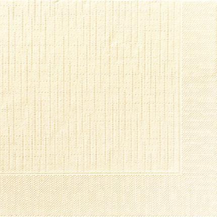 DUNI Klassik Serviette 40x40 cm 1/4F.creme