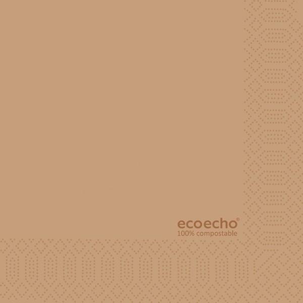 DUNI Zelltuch Serviette 40x40 cm 1/4F. Eco Braun