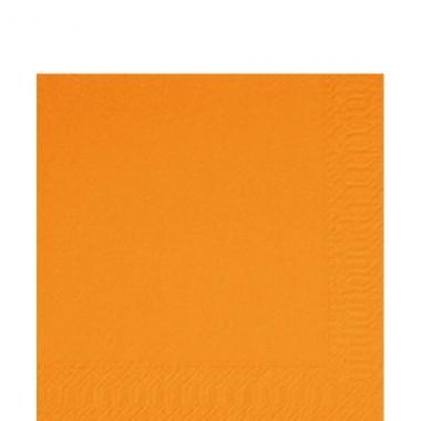 Fasana Zelltuch Serviette 33x33cm 1/4F. orange
