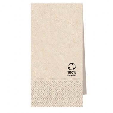 Serviette 100% Recycling Material 40x40cm 1/8 Falz