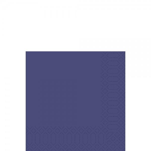 DUNI Zelltuch Serviette 33x33 cm 1/4F. dunkelblau