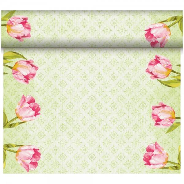 DUNI Tete-A-Tete Tischläufer Dunicel Love Tulip