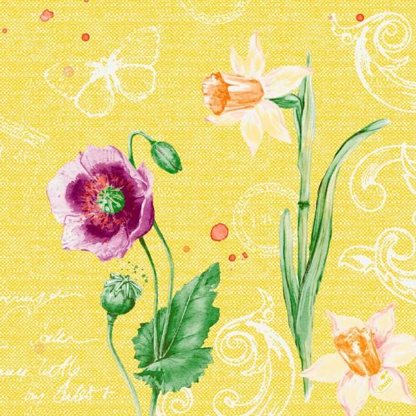 DUNI Zelltuch Serviette 40x40 cm 1/4F. Spring Lilies
