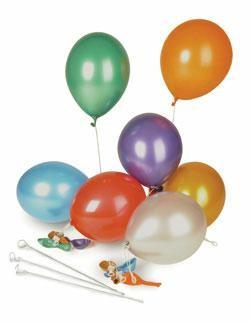 Luftballon metallic farbig sortiert
