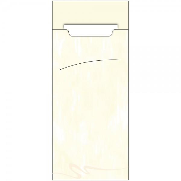 Bestecktasche Sacchet 85 x 200 mm Marble Creme