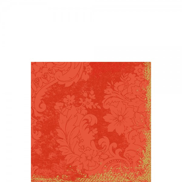 DUNI Zelltuch Serviette 33x33 cm 1/4F. Royal Mandarin