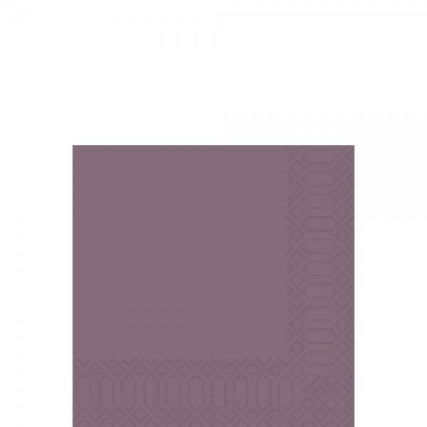 DUNI Zelltuch Serviette 33x33 cm 1/4F. plum