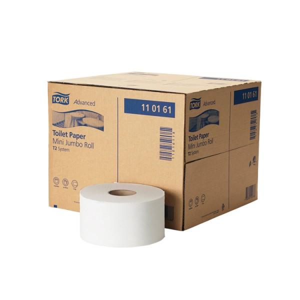 Toilettenpapier Mini Jumbo 1 lag. hochweiß