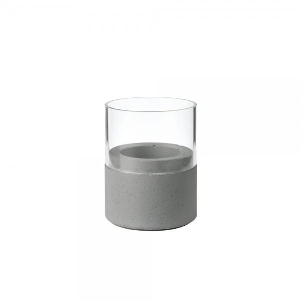 DUNI Kerzenhalter NEAT 75x68 mm dunkelgrau m. Glas