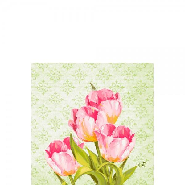 DUNI Zelltuch Serviette 33x33 cm 1/4F. Love Tulips