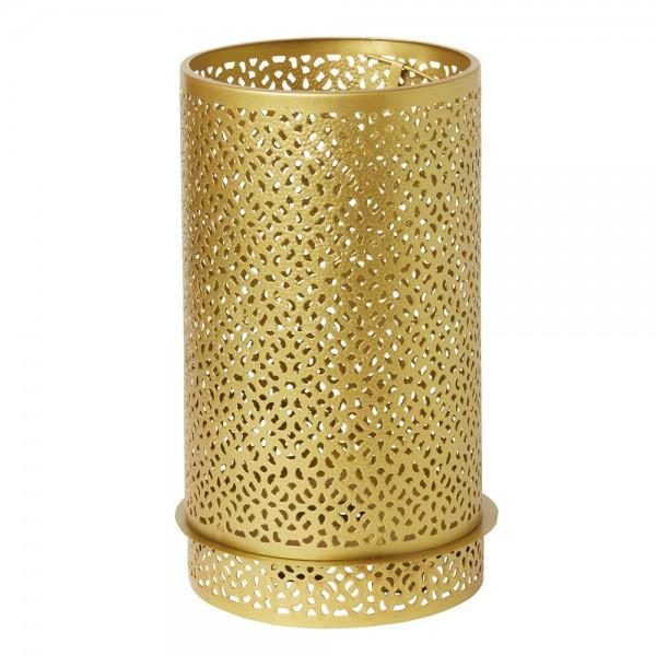 DUNI Kerzenhalter aus Metall 200 x 120 mm Bliss gold