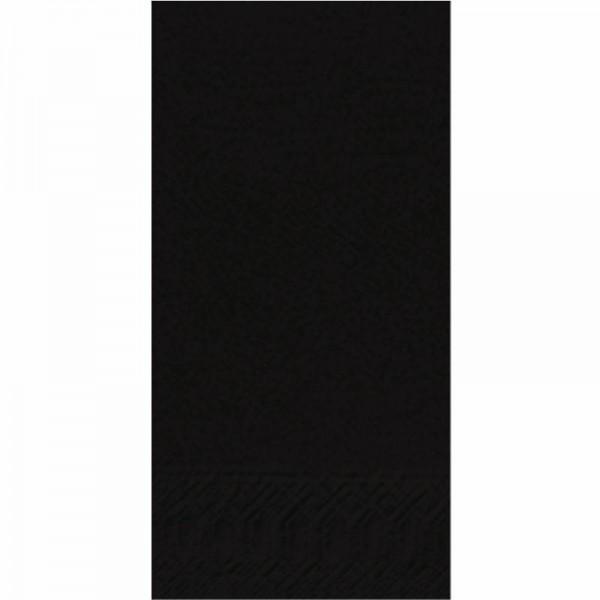 DUNI Zelltuch Serviette 40 x 40 cm 1/8F. schwarz
