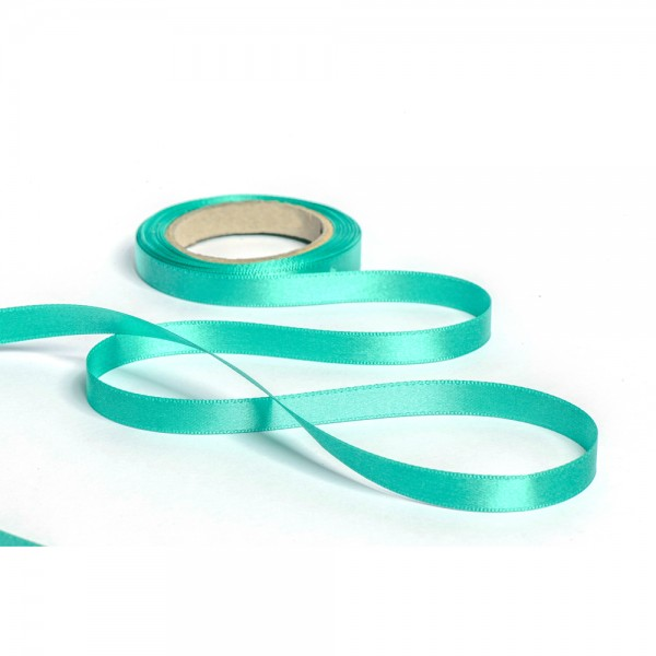 Geschenkband mit Druck 35mm breit 100 Meter türkis