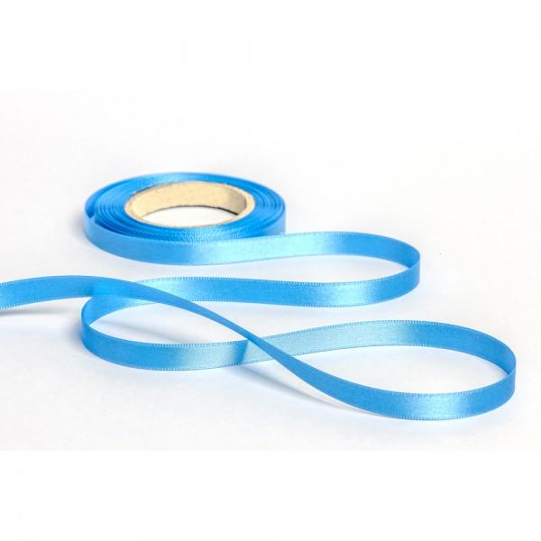 Geschenkband mit Druck 10mm breit 100 Meter hellblau