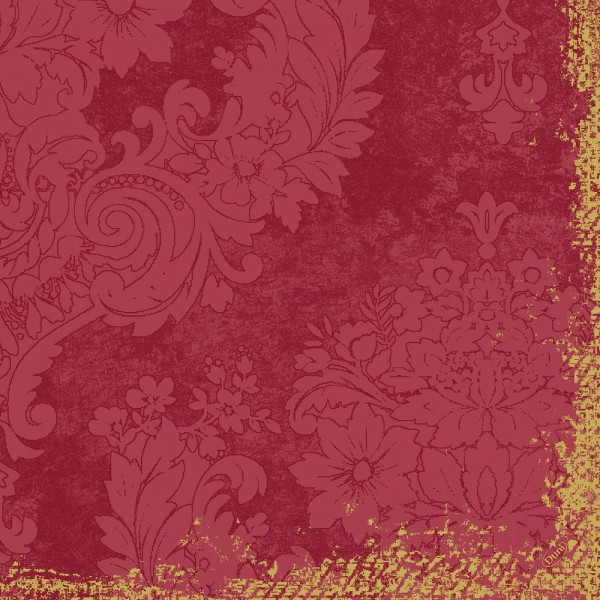 DUNI Klassik Serviette 40x40 cm 1/4F.Royal Bordeaux